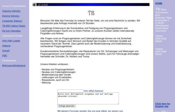 Vorschau von www.tbtakac.de, TB-Takac GmbH
