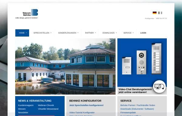 Vorschau von www.behnke-online.de, Telefonbau Behnke GmbH