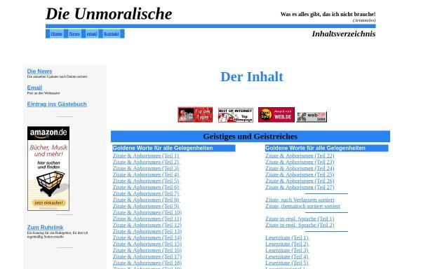 Vorschau von www.unmoralische.de, Die Unmoralische
