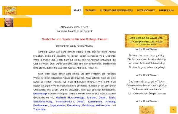 Vorschau von www.verseschmiede.com, Verseschmiede