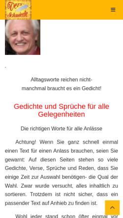 Vorschau der mobilen Webseite www.verseschmiede.com, Verseschmiede