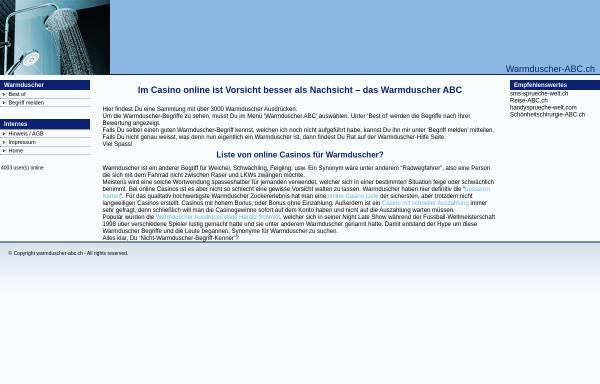 Vorschau von www.warmduscher-abc.ch, Warmduscher ABC
