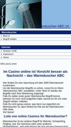 Vorschau der mobilen Webseite www.warmduscher-abc.ch, Warmduscher ABC