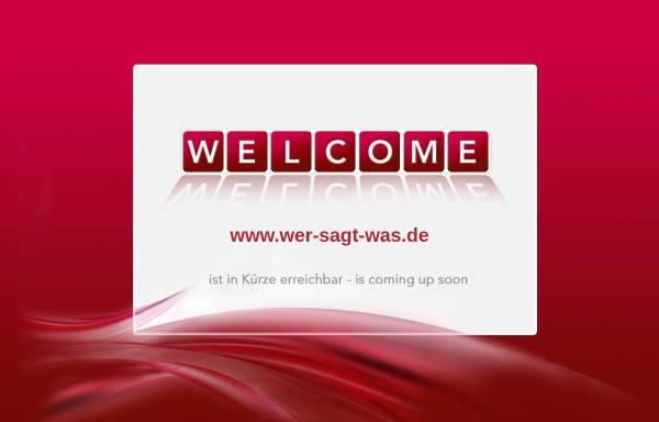 Vorschau von www.wer-sagt-was.de, Wer sagt was
