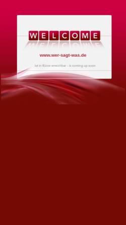 Vorschau der mobilen Webseite www.wer-sagt-was.de, Wer sagt was