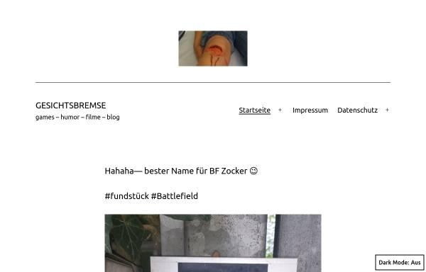 Vorschau von www.gesichtsbremse.de, Gesichtsbremse