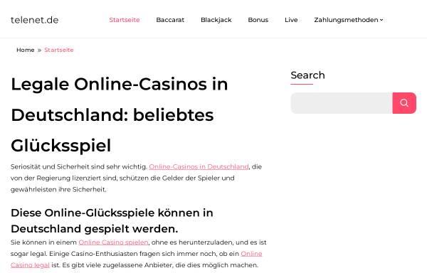 Vorschau von www.telenet.de, Telenet GmbH Kommunikationssysteme