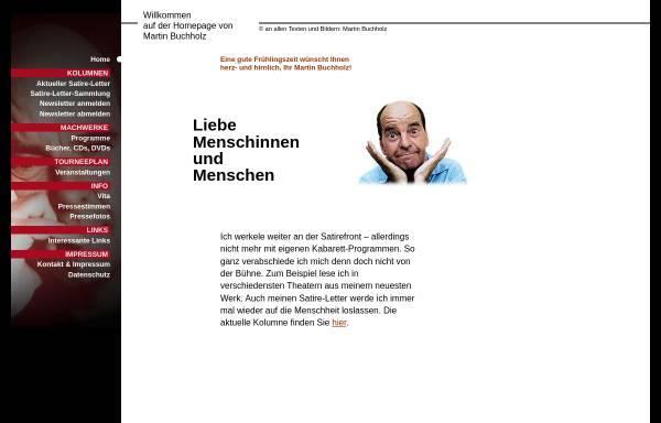 Vorschau von www.martin-buchholz.de, Martin Buchholz - nicht auf Linie, aber on-line