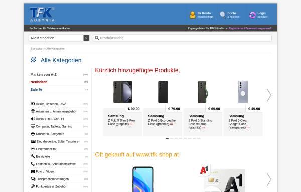 Vorschau von www.tfk-austria.at, TFK Handelsges.m.b.H.