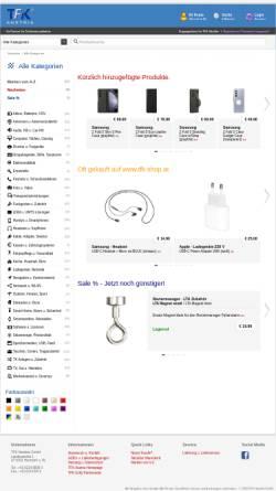 Vorschau der mobilen Webseite www.tfk-austria.at, TFK Handelsges.m.b.H.