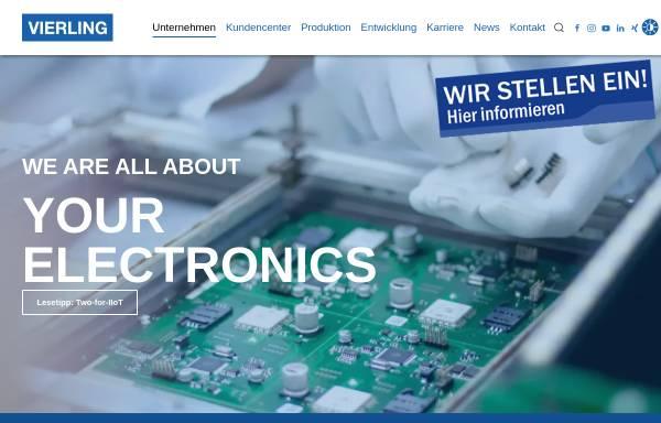 Vorschau von www.vierling.de, Vierling Communications/Production/Systems Gesellschaften mbH, Vierling Electronics GmbH & Co. KG