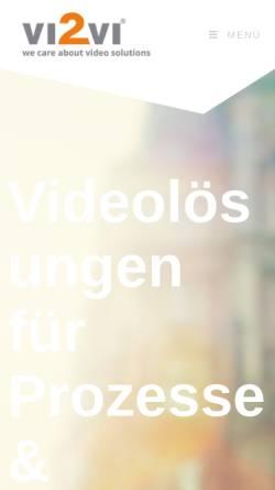Vorschau der mobilen Webseite www.vi2vi.com, vi2vi GmbH