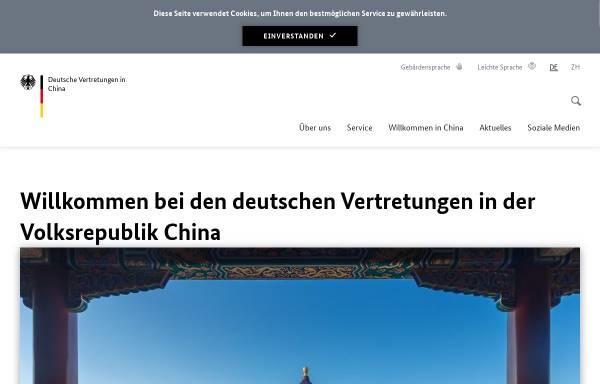 Vorschau von www.china.diplo.de, Deutsche Botschaft Peking - Wirtschaft