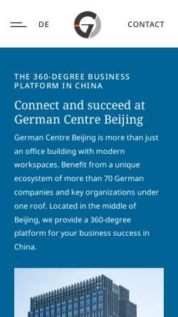 Vorschau der mobilen Webseite www.germancentre.org.cn, German Centre Beijing