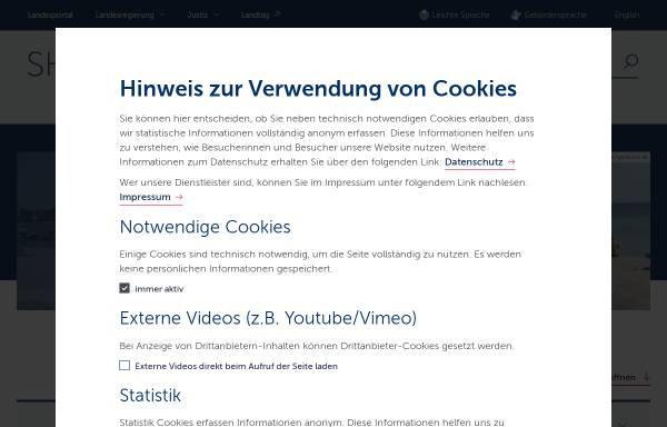 Vorschau von badewasserqualitaet.schleswig-holstein.de, Badegewässer in Schleswig-Holstein