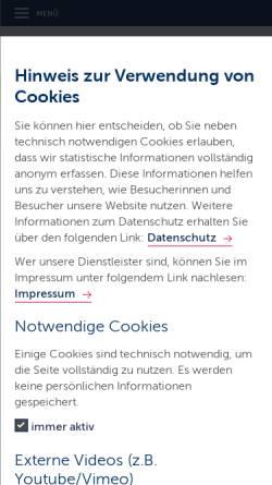 Vorschau der mobilen Webseite badewasserqualitaet.schleswig-holstein.de, Badegewässer in Schleswig-Holstein