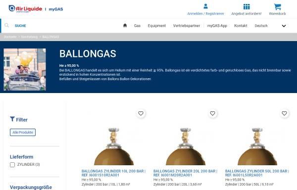 Vorschau von www.ballon24.de, Air Liquide Deutschland GmbH