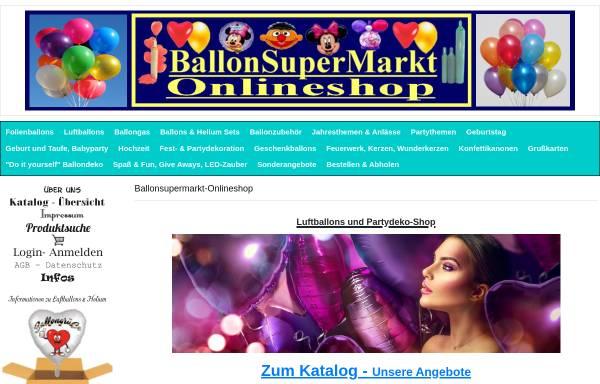 Vorschau von www.ballonsupermarkt-onlineshop.de, Ballon SuperMarkt, Simone Hacker