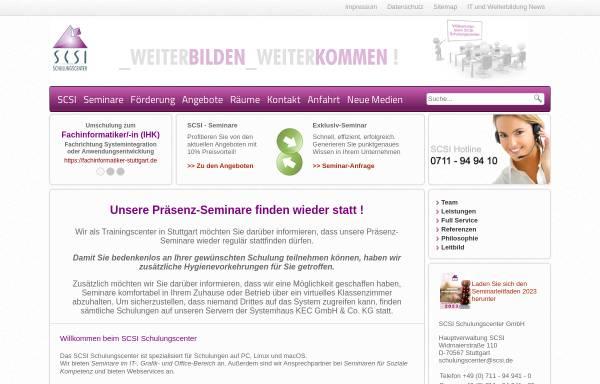 Vorschau von www.scsi.de, SCSI Schulungscenter GmbH