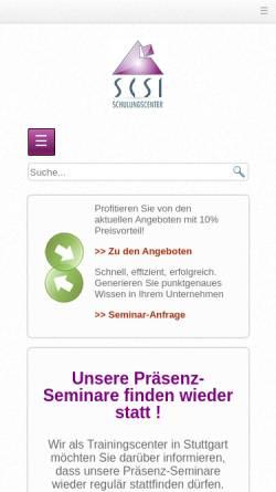 Vorschau der mobilen Webseite www.scsi.de, SCSI Schulungscenter GmbH