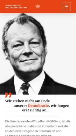 Vorschau der mobilen Webseite www.bwbs.de, Bundeskanzler-Willy-Brandt-Stiftung