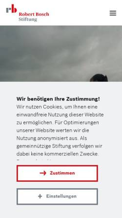 Vorschau der mobilen Webseite www.bosch-stiftung.de, Robert Bosch Stiftung