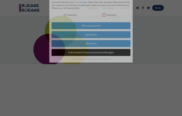 Vorschau von www.buerger-fuer-buerger.de, Stiftung Bürger für Bürger