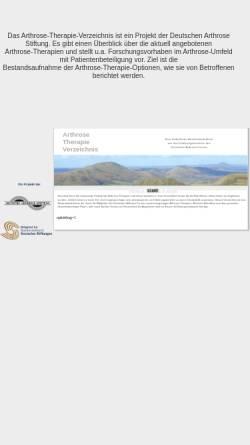 Vorschau der mobilen Webseite www.arthrose-therapie-verzeichnis.de, Arthrose Therapie Verzeichnis