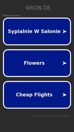 Vorschau der mobilen Webseite www.wkon.de, Klink, Wolfgang