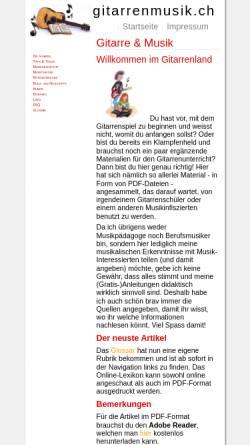Vorschau der mobilen Webseite www.gitarrenmusik.ch, Gitarre & Musik