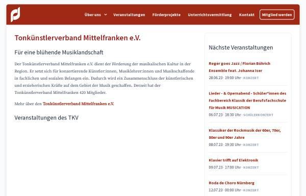 Vorschau von www.tkv-mittelfranken.de, Tonkünstlerverband Mittelfranken