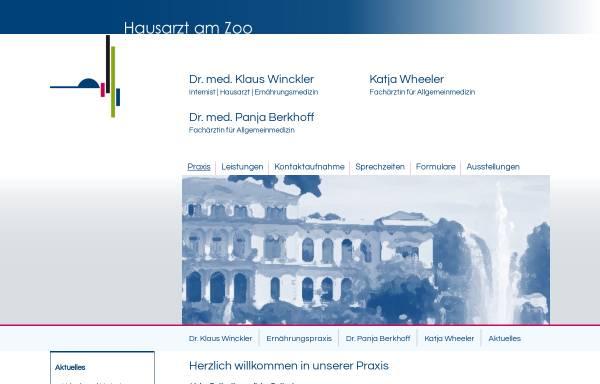 Vorschau von www.docwinckler.de, Winckler, Klaus Dr. med.