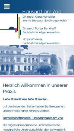 Vorschau der mobilen Webseite www.docwinckler.de, Winckler, Klaus Dr. med.