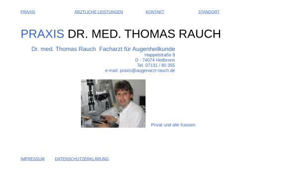 Vorschau von www.augenarzt-rauch.de, Dr. med. Thomas Rauch