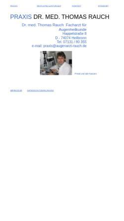 Vorschau der mobilen Webseite www.augenarzt-rauch.de, Dr. med. Thomas Rauch