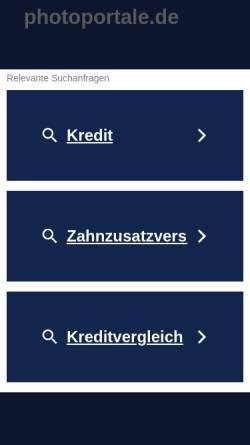 Vorschau der mobilen Webseite photoportale.de, PhotoPortale e.V.