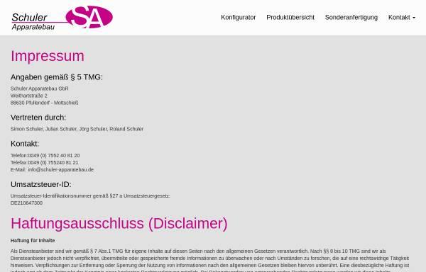 Schuler Apparatebau GbR in Pfullendorf: Rohre und Schläuche ...