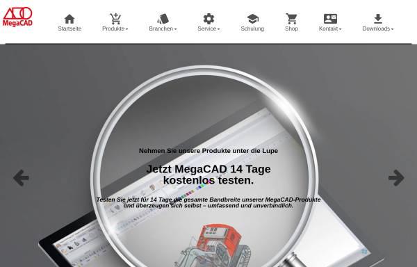 Vorschau von www.megacad.ch, MegaCAD-Center GmbH