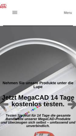 Vorschau der mobilen Webseite www.megacad.ch, MegaCAD-Center GmbH