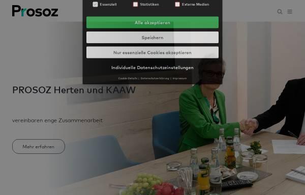 Vorschau von www.prosoz.de, Prosoz Herten GmbH