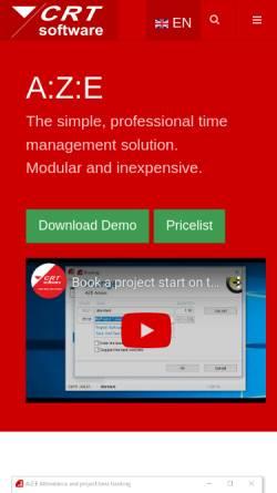 Vorschau der mobilen Webseite www.crt-software.com, CRT Software