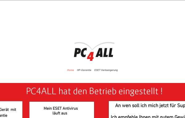 Vorschau von www.pc4all.ch, PC4All GmbH