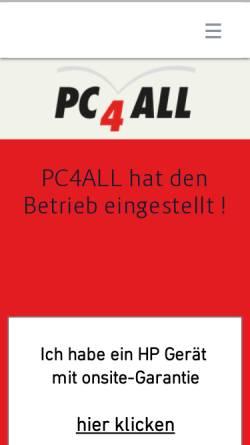Vorschau der mobilen Webseite www.pc4all.ch, PC4All GmbH