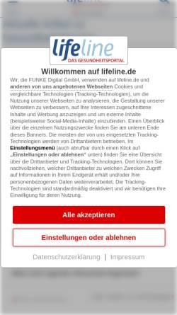 Vorschau der mobilen Webseite www.qualimedic.de, Schlaganfall