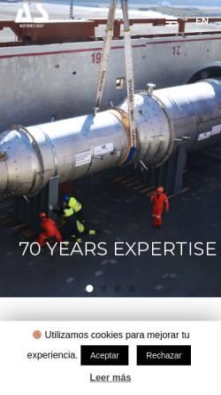 Vorschau der mobilen Webseite www.aguilarysalas.com, Aguilar y Salas, S.A.