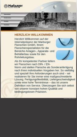 Vorschau der mobilen Webseite www.marburger-flanschen.de, Marburger Flanschen Fertigung GmbH
