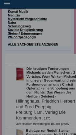Vorschau der mobilen Webseite anthro-antiquariat.de, Antiquariat Ruth Jäger