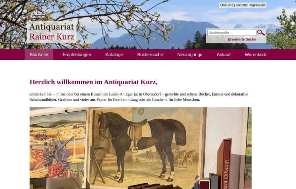 Vorschau von www.antiquariatkurz.de, Versandantiquariat Rainer Kurz