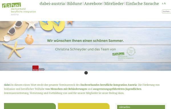Vorschau von www.dabei-austria.at, Dachverband berufliche Integration