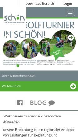 Vorschau der mobilen Webseite www.schoen-kreuzbichlhof.at, Schön für behinderte Menschen gemeinnützige GmbH